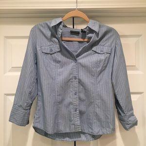 New York & Company Cotton Button-Down Top
